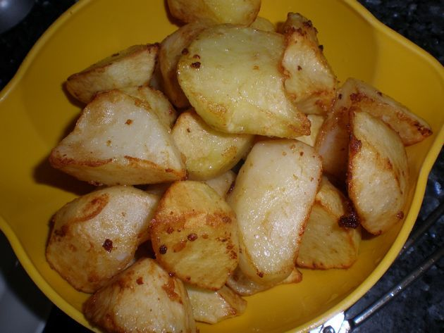 papas tronchadas fritas